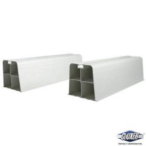 Base de Piso PVC para Condensadora de Minisplit Largo 45 cm 9.5 Altura Ancho 10 cm, Modelo: CXBAPIPAG, Marca CLUXER
