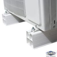 Base de Piso de PVC para Condensadora de Minisplit, Largo 45 cm , 9 cm Altura, Ancho 10 cm, Cluxer CXBAPIPAG