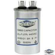 Capacitor de Trabajo 20Mf, Dual-440vac-370vac +-5%, 50/60Hz, Modelo: CXC44020 Marca CLUXER