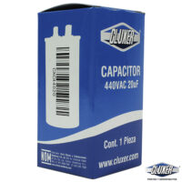 Capacitor de Trabajo, 20Mf, 440VAC +-5%, 50/60Hz, Cluxer CXC44020