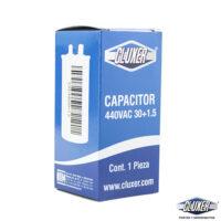 Capacitor de Trabajo, 30/1.5Mf, Dual-440vac-370vac +-5%, 50/60Hz, Cluxer Modelo: CXC4403015