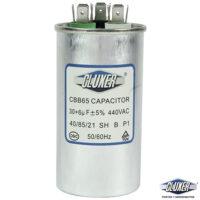 Capacitor de Trabajo 30/6Mf, 440V +-5%, 50/60Hz, Modelo: CXC440306 Marca CLUXER