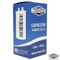 Capacitor de Trabajo, 30/6Mf, 440V +-5%, 50/60Hz, Cluxer Modelo: CXC440306