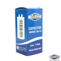 Capacitor de Trabajo, 35/1.5Mf, 440V +-5%, 50/60Hz, Cluxer Modelo: CXC4403515