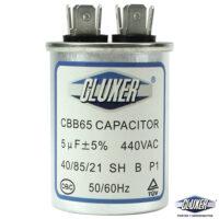 Capacitor de Trabajo 5Mf, Dual 440-370vac, +-5%, 50/60Hz, Modelo: CXC4405 Marca CLUXER