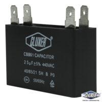 Capacitor de Ventilador, 2.5Mf, 440VAC +-5%, 50/60Hz, Cluxer CXCP44025