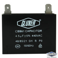 Capacitor de Ventilador 4.5Mf, Dual 440-370vac +-5%, 50/60Hz, Modelo: CXCP44045 Marca CLUXER
