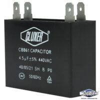 Capacitor de Ventilador, 4.5Mf, 440VAC +-5%, 50/60Hz, Cluxer CXCP44045