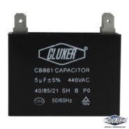 Capacitor de Ventilador 5Mf, Dual 440-370vac +-5%, 50/60Hz, Modelo: CXCP4405 Marca CLUXER
