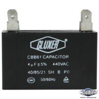 Capacitor de Ventilador 4Mf, Dual 440-370vac +-5%, Modelo: CXCP4404 Marca CLUXER