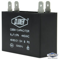 Capacitor de Ventilador, 6Mf, 440VAC +-5%, 50/60Hz, Cluxer CXCP4406