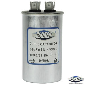 Capacitor de Trabajo 35Mf, Dual 440-370vac, +-5%, 50/60Hz, Modelo: CXC44035 Marca CLUXER