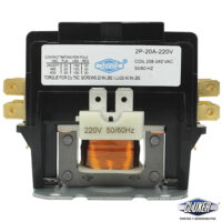 Contactor 2 Polos 20 Amps, Bobina 208-240VAC, 50/60Hz, Modelo: CXC2P20A220 Marca CLUXER