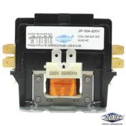 Contactor 2 Polos 30 Amps, Bobina 208-204VAC, 50/60Hz, Modelo: CXC2P30A220 Marca CLUXER