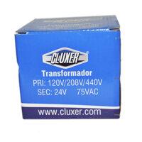 Transformador Cluxer 120/208/440 a 24v, 75vac Modelo: CXTR75